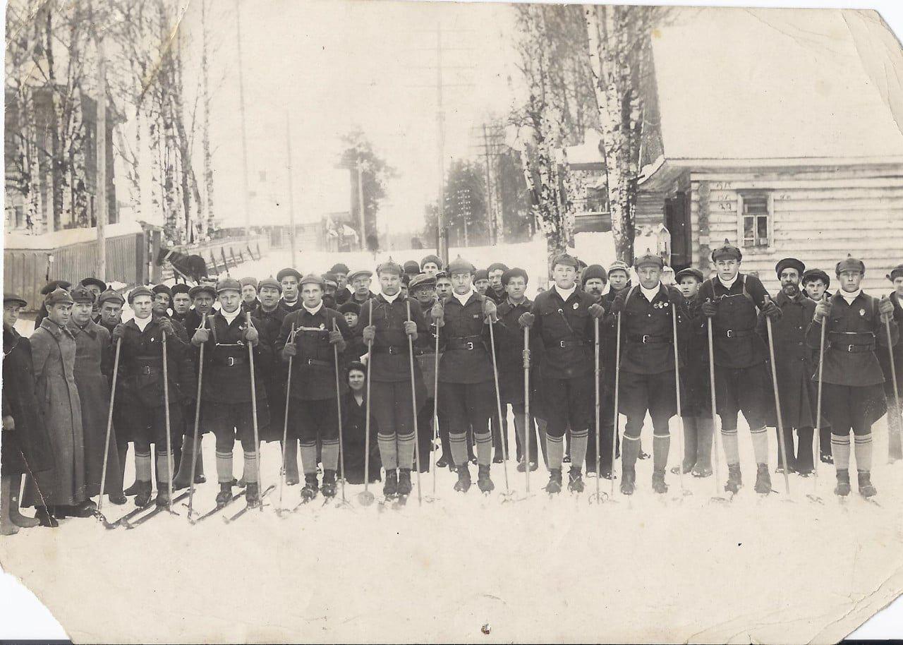 Лыжный пробег комсомольцев Максатихи