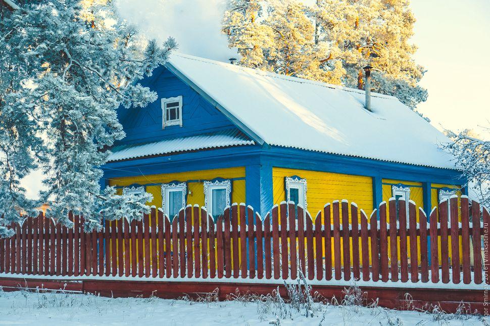 Прогулка по посёлку Максатиха в тридцатиградусный мороз