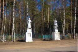 Вход на кладбище посёлка Максатиха