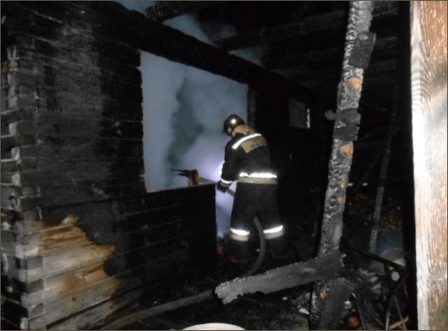 Пожар в бане деревни Селищи