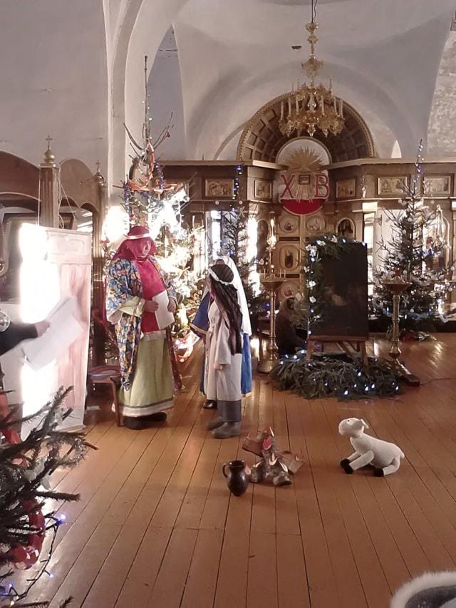 Рождественский спектакль представили в Николо-Теребенском монастыре
