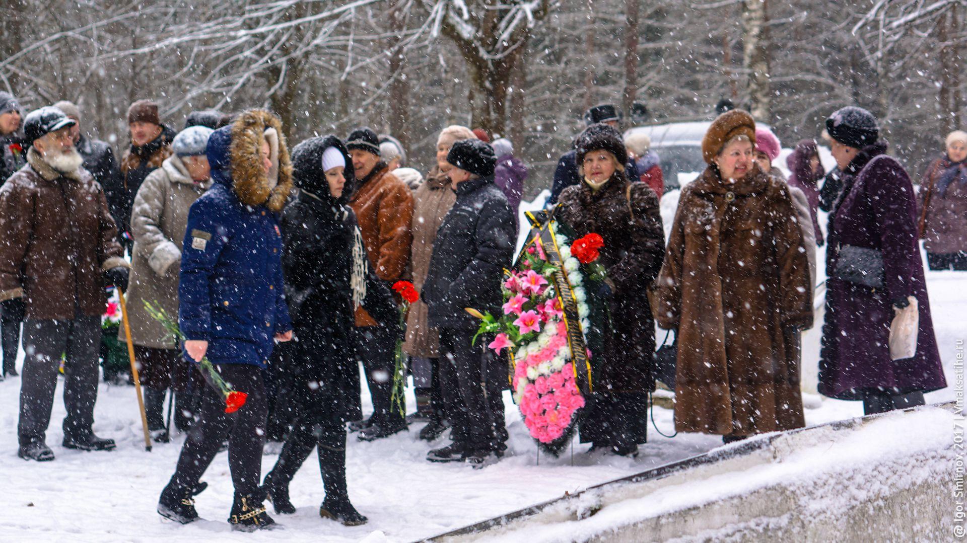 Митинг на Братском кладбище посёлка Максатиха 23 февраля 2017 года