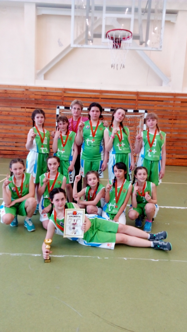 Максатихинская команда девушек по баскетболу