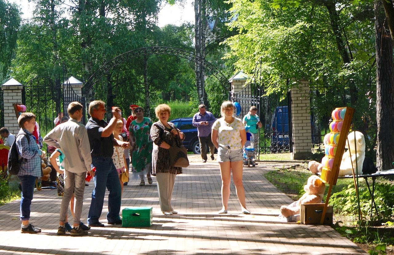 Развлекательные игры в парке культуры и отдыха посёлка Максатиха