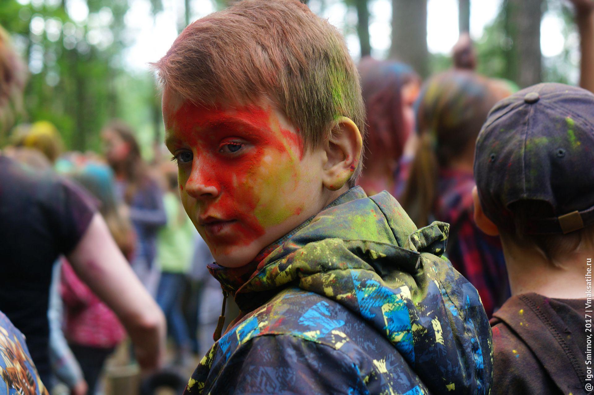 В парке посёлка Максатиха 6 июля 2017 года состоялся фестиваль красок