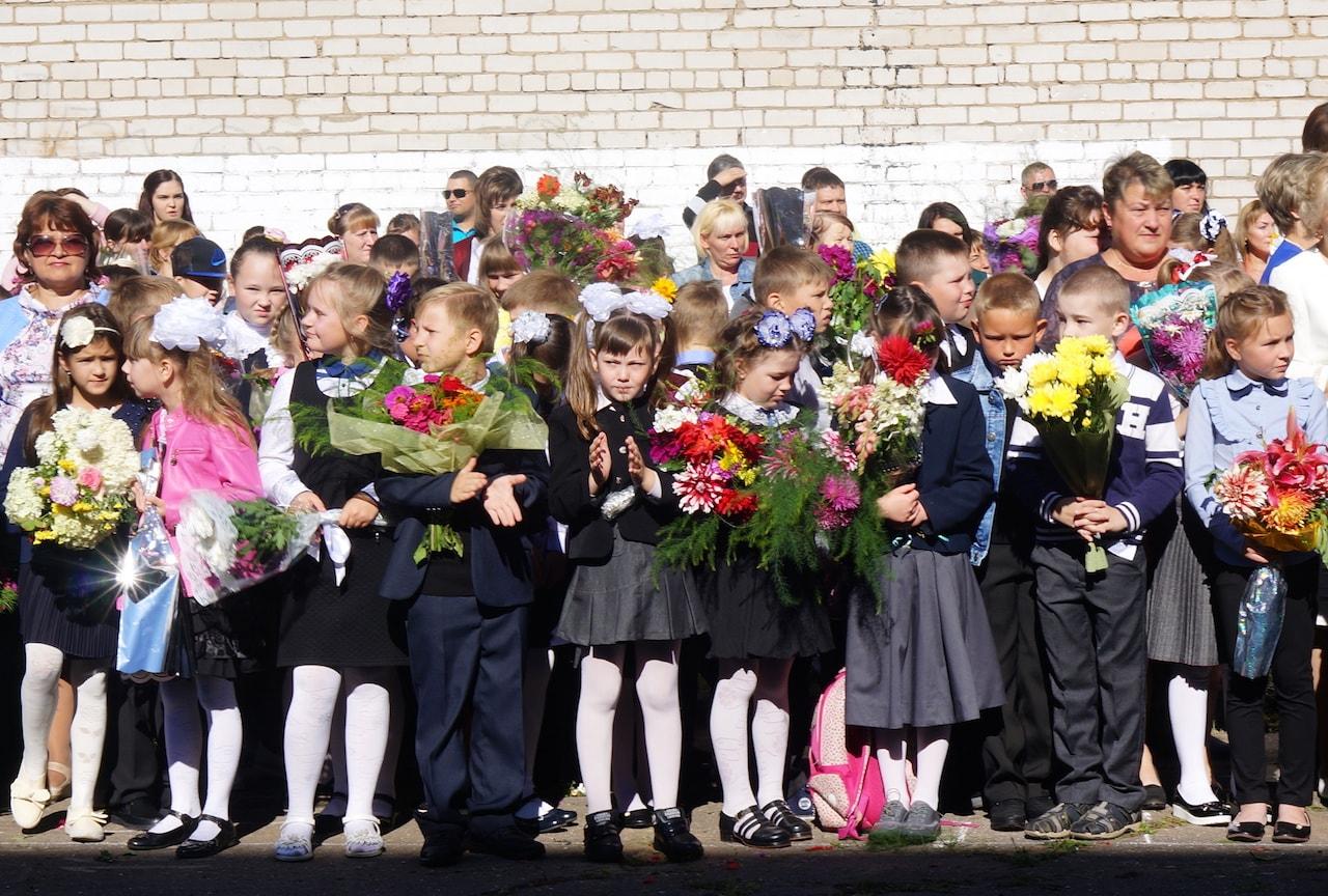 Первое сентября в Максатихинской средней общеобразовательной школе № 1 2017 год