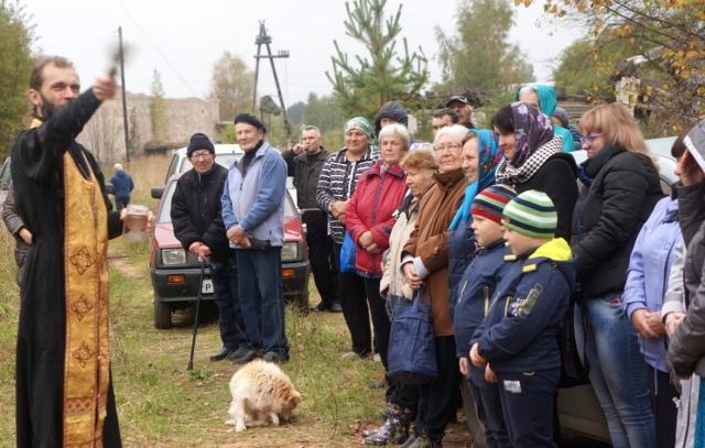 Жители деревни Ручки на открытии нового объекта в рамках ППМИ