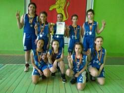 Команда максатихинских баскетболисток