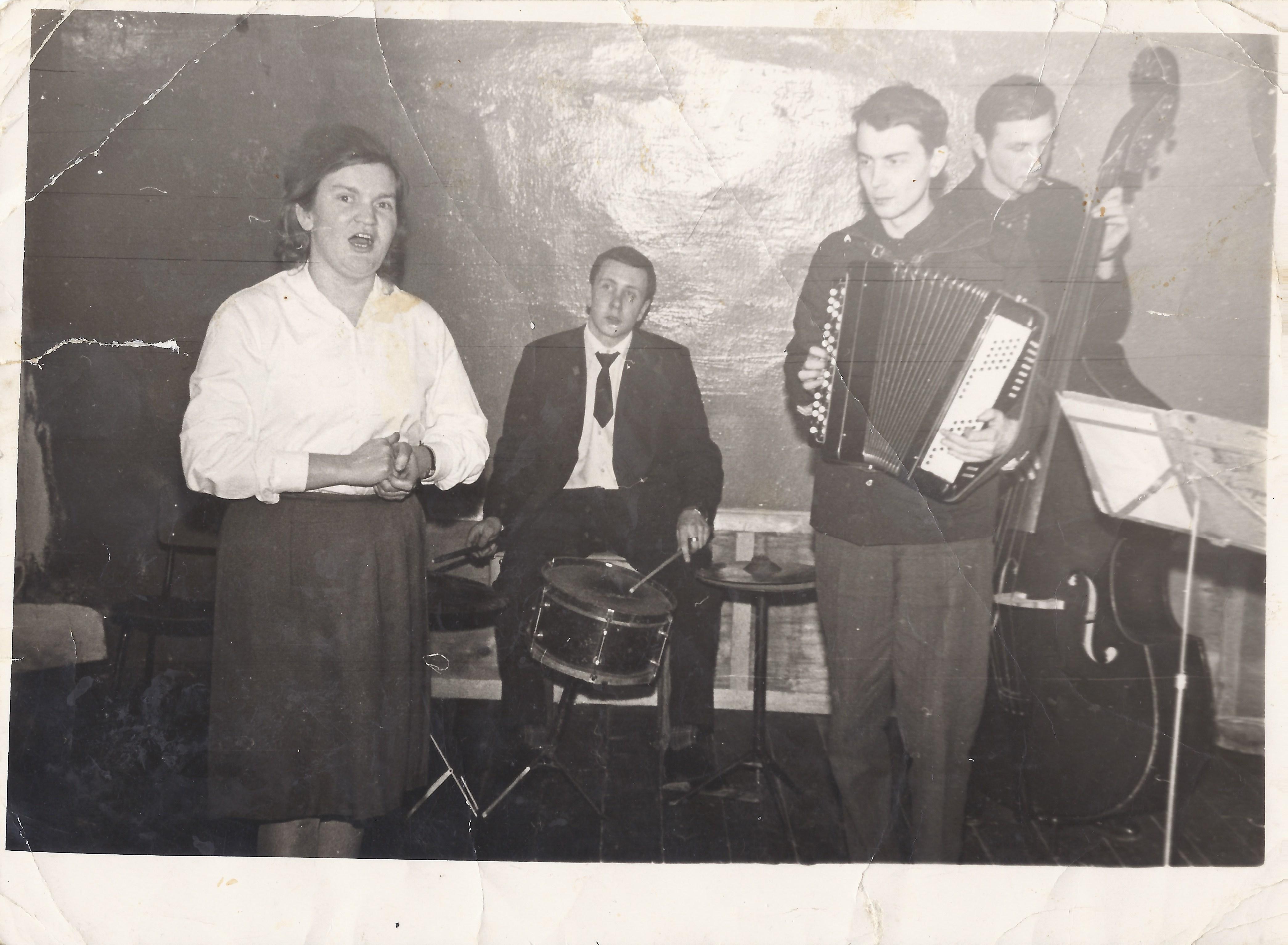 Репетиция в Максатихинском районном Доме культуры, 1967 год