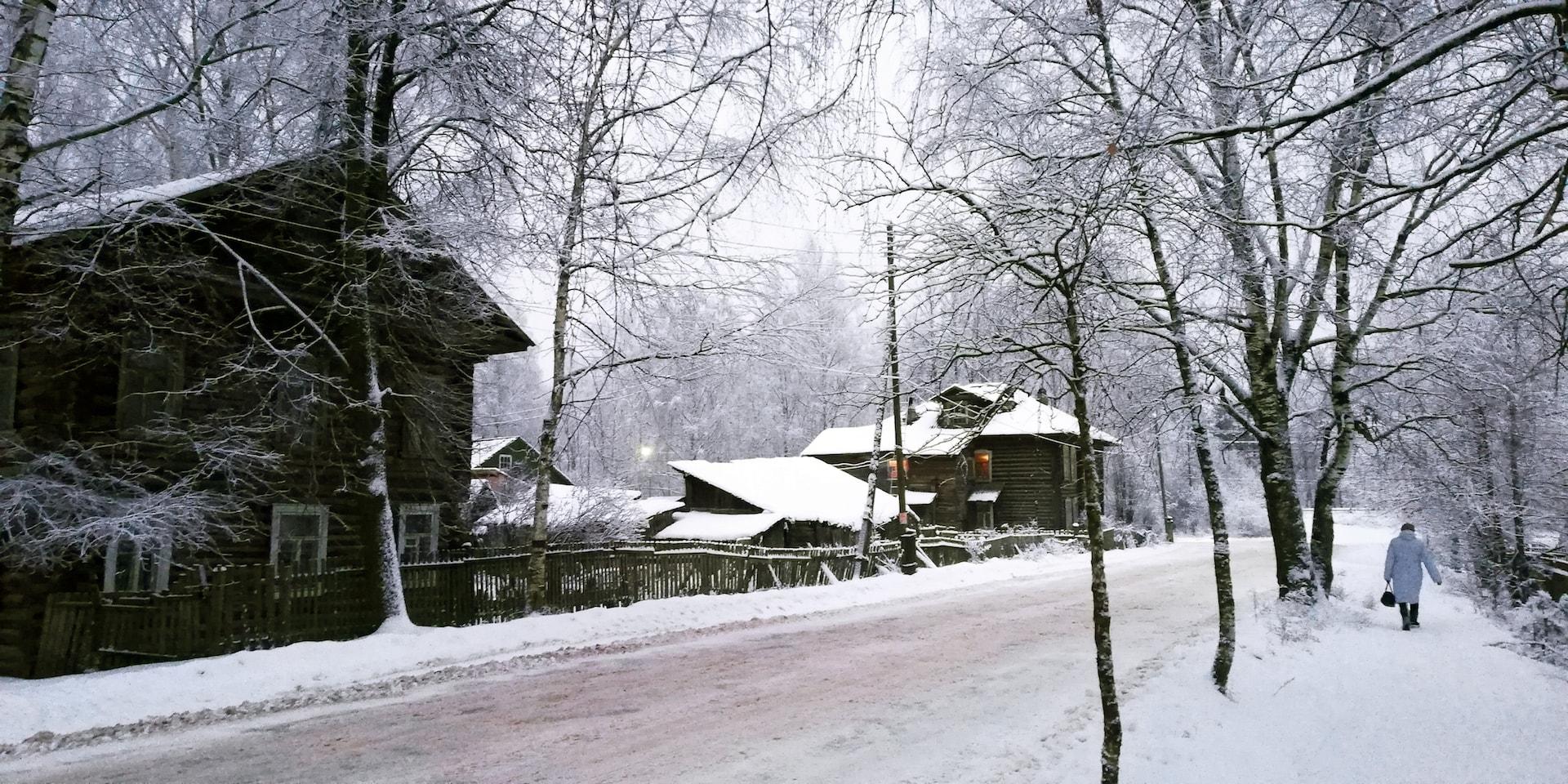 Снегопад в посёлке Максатиха 12 декабря 2018 года